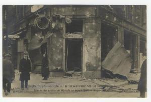 German Revolution 1919 Berlin Jewelry Store Freikorps RPPC 51891