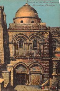 Israel Old Vintage Antique Post Card Church of the Holy Sepulchre Palestine, ...