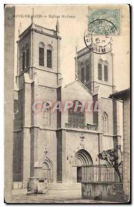 Postcard Old Rive de Gier Church St Jean