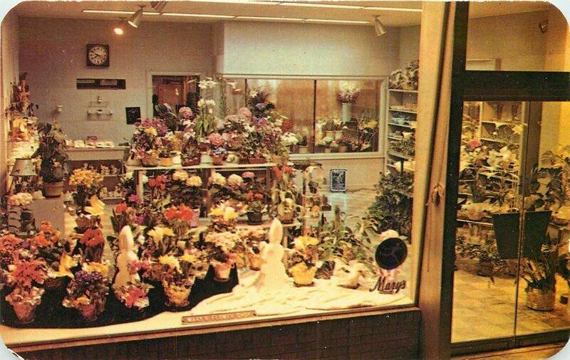 Dexter Hunts Studios Mary's Flower Shop Monroe Louisiana 1950s Postcard 20-8020