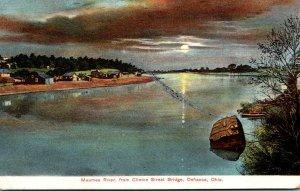 Ohio Warren Defiance Maumee River From Clinton Street Bridge