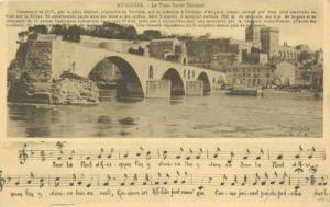 France, Avignon, Le Pont Saint-Benezet, early 1900s unuse...