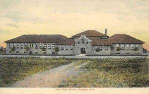 DOUGLAS, AZ New High School c1910s Vintage Postcard