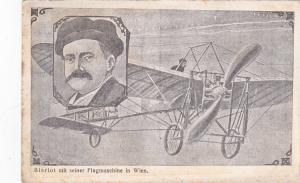 Pioneer Bleriot mit seiner Flugmaschine in Wien, Austria, 00-10s ; Airplane