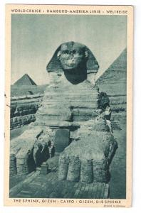 Sphinx Giza Cairo Hamburg Amerika 1931 World Cruise Resolute