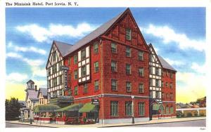 Minisink Hotel Port Jervis, New York Postcard