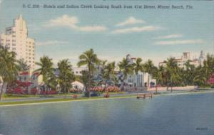 Florida Miami Beach Hotels & Indian Creek Looking South From 41st Street 1956...