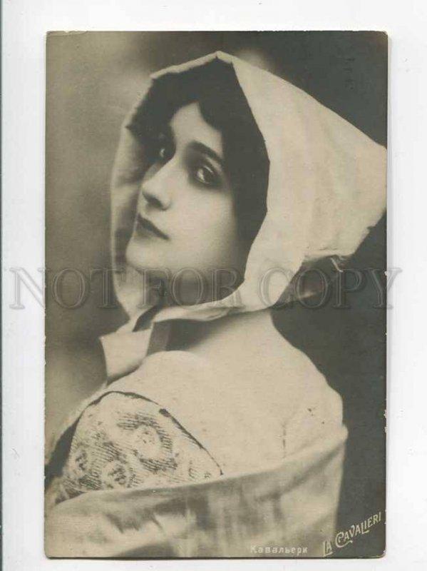 3033236 CAVALIERI Italian Opera Star. Role.Vintage PC
