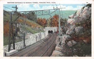 Massachusetts Train Postcard Western Entrance to Hoosac Tunnel Mohawk Trail, ...