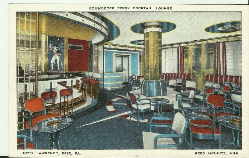 Erie,PA., Hotel Lawrence, Commodore Perry Cocktail Lounge