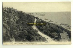 tp1912 - Lower Sandgate Road , Folkestone , Kent - LL postcard no 23