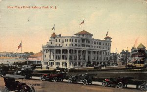 New Plaza Hotel, Asbury Park, New Jersey, Early Postcard, Used in 1913
