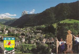 Dolomiti, Val Gardena - Ortisei m 1234 verso il Sassolungo m 3181, Postcard