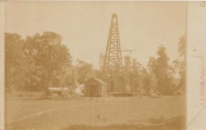 G22/ East Bloomfield New York RPPC Postcard c1910 Oil Well Derrick  Occupational