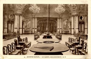 France - Monte Carlo. The Casino, Gaming Room