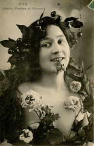 Ete. (Summer) Lady with Fruits and Flowers