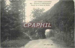 Old Postcard Around Gerardmer Vosges illustrated Tunnel Rock Devil
