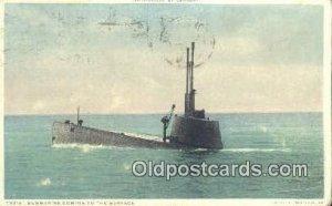 Submarine Surfacing Submarine 1916