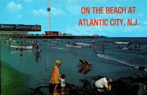 New Jersey Atlantic City Scene On The Beach