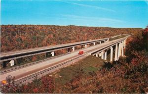 INTERSTATE I-80 220 KEYSTONE VIADUCT BRIDGES KYLERTOWN PENNSYLVANIA POSTCARD