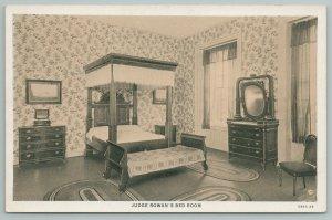 Bardsrown Kentucky~Judge Rowan's Bedroom~Vintage Postcard