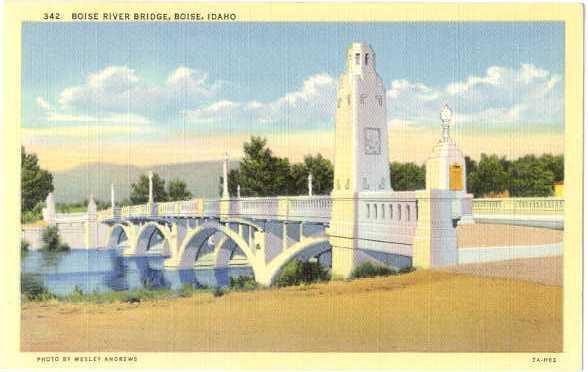 Linen of Boise River Bridge Boise Idaho ID