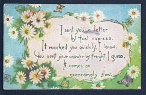 I sent you a letter by Fast Express . .  used c1910