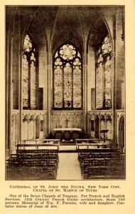 NY - New York City. Cathedral of St John the Divine. Chapel of St Martin of T...