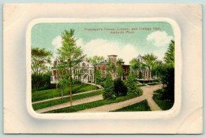 Amherst~University of Massachusetts~President's House~Library~College Hall~c1910
