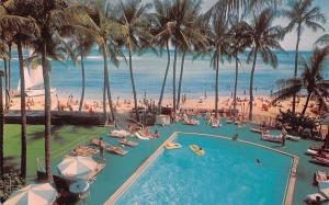 US Hawaii Honolulu, Waikiki Beach Outrigger Hotels, Swimming Pool, Plage, Strand