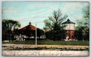 Rock Island Illinois Arsenal~Old Gun Powder Mill~2 Round Buildings~1906 Postcard