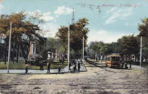 St. Denis Street , MONTREAL , Quebec , Canada , PU-1910