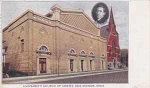 DES MOINES, Iowa, PU-1921; University Church Of Christ