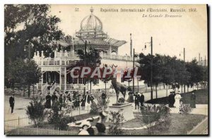 Old Postcard Beer Brewery Marseille International Exhibition & # 1908 39elect...
