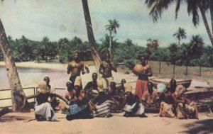 Sierra Leone 1965 African Dance Troup Original Postcard