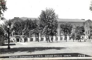Cedar Falls ISTC RPPC~University of Northern Iowa~Women's Gymnasium 1939-1950