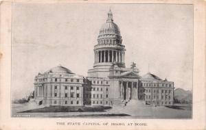 BOISE IDAHO THE STATE CAPITOL~HOUSEHOLD POST CARD CLUB TOPEAKA KS POSTCARD 1908