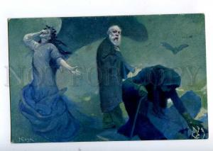 189321 KOZA Farewell Genius DEATH Vintage SALON IPP postcard