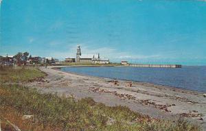 L'Anse Ste-Luce et le Quai a Ste-Luce sur Mer, cte  Rimouski,  Quebec,  Canad...