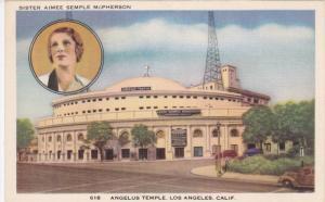 LOS ANGELES, California, 1930-1940's; Angelus Temple, Sister Aimee Semple McP...