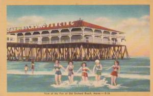 Maine Old Orchard Beach and View Of The Pier Dexter Press