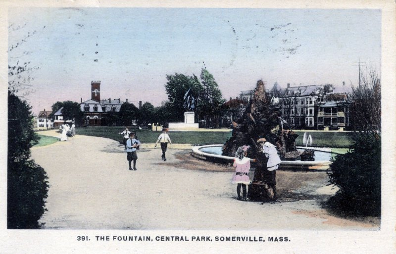 [ New England News ] US Massachusetts Somerville - The Fountain