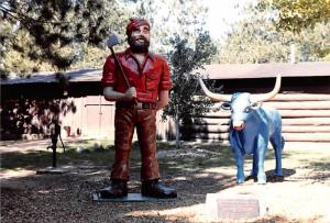 Paul Bunyan and Babe - Eau Claire, Wisconsin, camera photograph