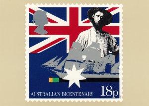 Australian Bicentenary Stamp postcard 18p , #2