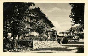 austria, KITZBÜHEL, Tyrol Tirol, Hotel Tyrol (1940s) RPPC Postcard