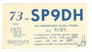 HAM Radio card, Krakow, Poland 50-60s