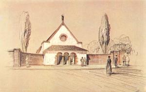 Postcard Art The Shrine of Our Lady of Walsingham from a Crayon Drawing (1931)#W