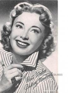 Audrey Meadows Movie Star Actor Actress Film Star Postcard, Old Vintage Antiq...
