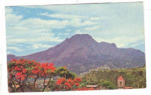 The Mt Pele volcano, view from St. Pierre, MARTINIQUE, PU-1964