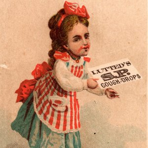 1880's Lutted's S P Cough Drops Buffalo New York Victorian Trade Card